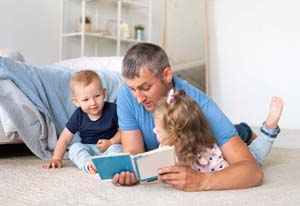 father-and-children-fatherhood-skills